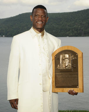 Rickey Henderson was inducted into the Hall of Fame in 2009. (Milo Stewart Jr./National Baseball Hall of Fame and Museum)
