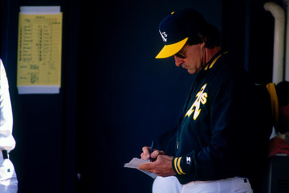 Tony La Russa managed Oakland for 10 seasons and led the team to three pennants and one World Series title. (Brad Mangin/National Baseball Hall of Fame)