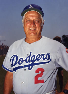 Tommy Lasorda was named the Dodgers' manager in 1976 and remained on the job for 21 seasons. (National Baseball Hall of Fame and Museum)