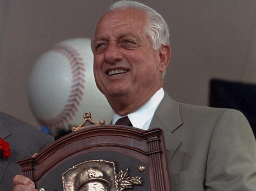 Tommy Lasorda was elected to the Hall of Fame in 1997. (Milo Stewart Jr./National Baseball Hall of Fame and Museum)