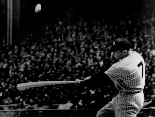 Mickey Mantle played on the New York Yankees for the entirety of his 18-year long major league career. (National Baseball Hall of Fame)