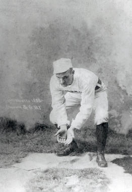 Bid McPhee was one of the last infielders to play without a glove, starring for Cincinnati prior to the turn of the 20th century. He was elected to the Hall of Fame in 2000. (National Baseball Hall of Fame and Museum)