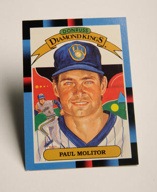This 1987 Paul Molitor card was a part of the Diamond Kings set produced by the Donruss Card Company. (Milo Stewart, Jr. / National Baseball Hall of Fame)