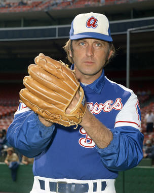 Phil Niekro pitched for the Braves for 21 seasons, topping the 300-inning mark in four seasons. (Doug McWilliams/National baseball Hall of Fame and Museum)