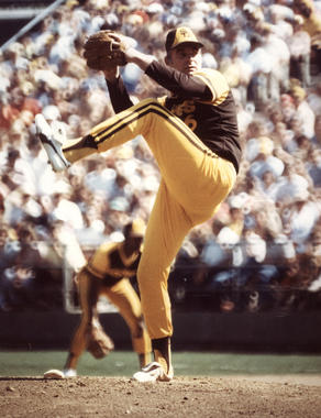 Gaylord Perry played with three other future Hall of Famers during his time on the San Diego Padres: Rollie Fingers, Ozzie Smith and Dave Winfield. (National Baseball Hall of Fame)