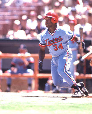 Kirby Puckett recorded four hits in his big league debut with the Twins on May 8, 1984. (National Baseball Hall of Fame and Museum)