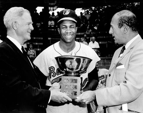In 1966, Frank Robinson won the American League MVP Award after in a unanimous vote following his Triple Crown season. (National Baseball Hall of Fame and Museum)