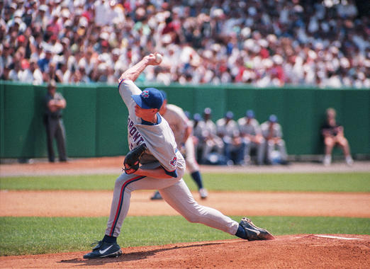 When Roy Halladay pitched in the 1998 Hall of Fame Game, he had not yet made his big league debut. (By Photographer Milo Stewart Jr./National Baseball Hall of Fame and Museum)
