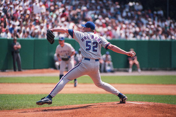 As a member of the Toronto Blue Jays, Roy Halladay pitched in the 1998 Hall of Fame Game at Doubleday Field. (Milo Stewart Jr./National Baseball Hall of Fame and Museum)