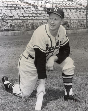 Red Schoendienst played for the Milwaukee Braves from 1957-60. (National Baseball Hall of Fame and Museum)