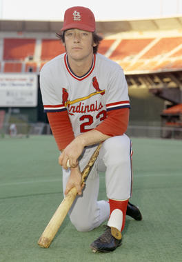 Ted Simmons played 13 seasons with the St. Louis Cardinals before finishing his career with stints in Milwaukee and Atlanta. (Doug McWilliams/National Baseball Hall of Fame and Museum)