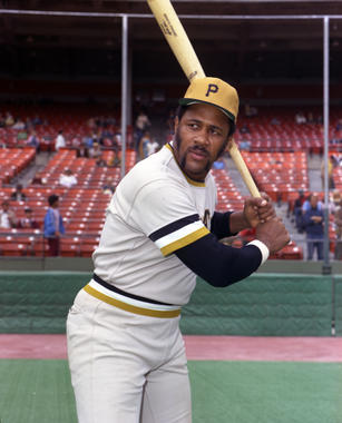 Willie Stargell of the Pittsburgh Pirates posed batting in 1973. PP73-767 (Doug McWilliams / National Baseball Hall of Fame Library)