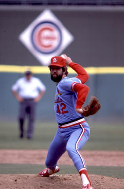Bruce Sutter led the National League in saves five times during his 12-year big league career. From 1978 through 1981, Sutter won or saved the All-Star Game every season. He was elected to the Hall of Fame in 2006. (National Baseball Hall of Fame and Museum)