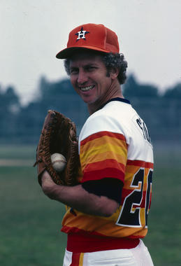 Hall of Fame pitcher Don Sutton signed with the Houston Astros in December 1980 after winning 233 games for the Los Angeles Dodgers - still the highest total in franchise history. BL-2862-2005 (Rich Pilling / National Baseball Hall of Fame)