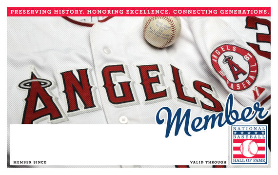 Los Angeles Angels of Anaheim Hall of Fame Membership program card