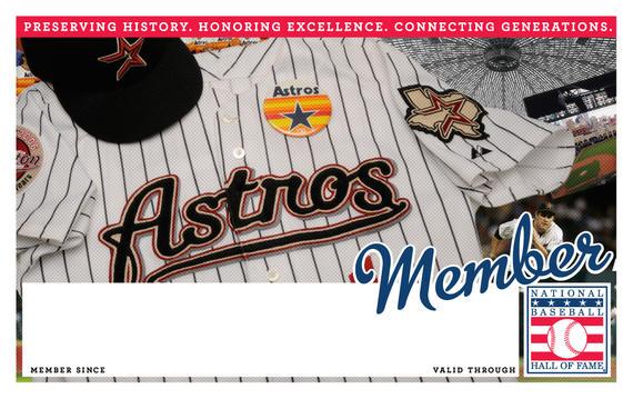 Houston Astros Hall of Fame Membership program card