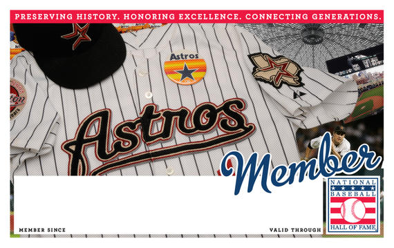 Houston Astros Hall of Fame Membership program card