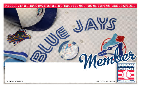 Toronto Blue Jays Hall of Fame Membership program card