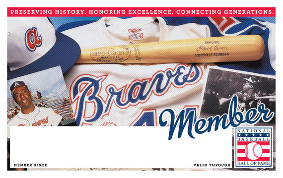 Atlanta Braves Hall of Fame Membership program card