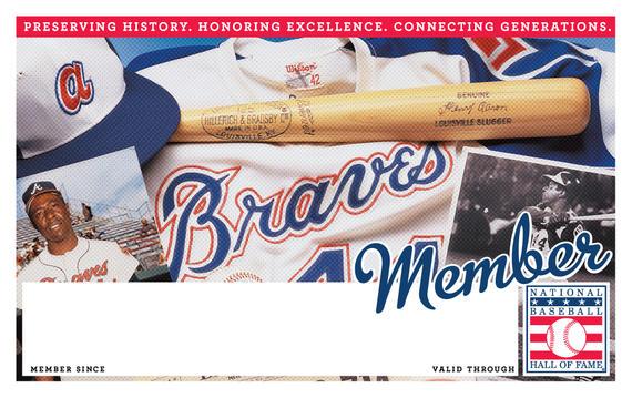 Atlanta Braves Hall of Fame Membership program card
