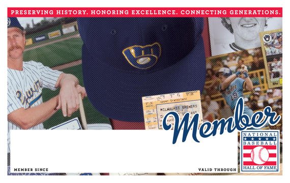 Milwaukee Brewers Hall of Fame Membership program card
