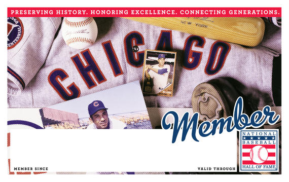 Chicago Cubs Hall of Fame Membership program card