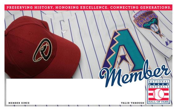 Arizona Diamondbacks Hall of Fame Membership program card