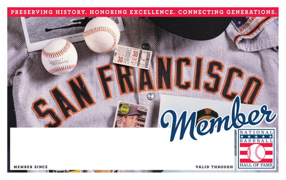 San Francisco Giants Hall of Fame Membership program card