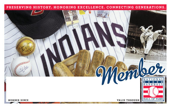 Cleveland Indians Hall of Fame Membership program card