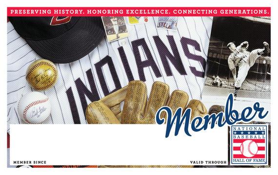 Cleveland Indians Hall of Fame Membership program card
