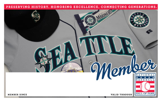 Seattle Mariners Hall of Fame Membership program card