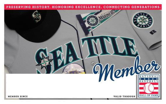 Seattle Mariners Hall of Fame Membership program card