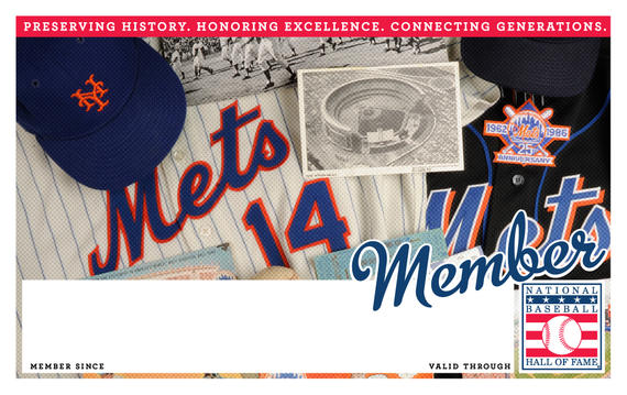 New York Mets Hall of Fame Membership program card