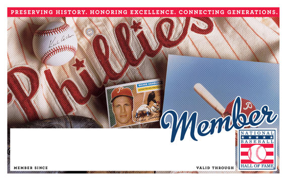 Philadelphia Phillies Hall of Fame Membership program card