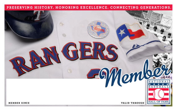 Texas Rangers Hall of Fame Membership program card