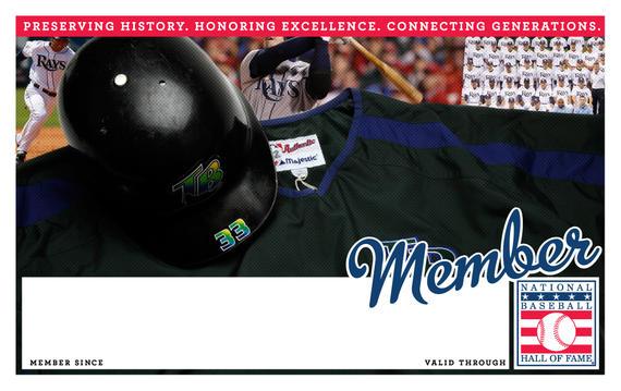 Tampa Bay Rays Hall of Fame Membership program card