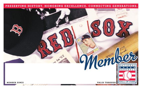 Boston Red Sox Hall of Fame Membership program card