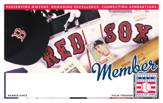Boston Red Sox Hall of Fame Membership program card