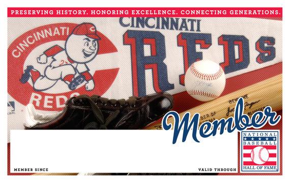 Cincinnati Reds Hall of Fame Membership program card