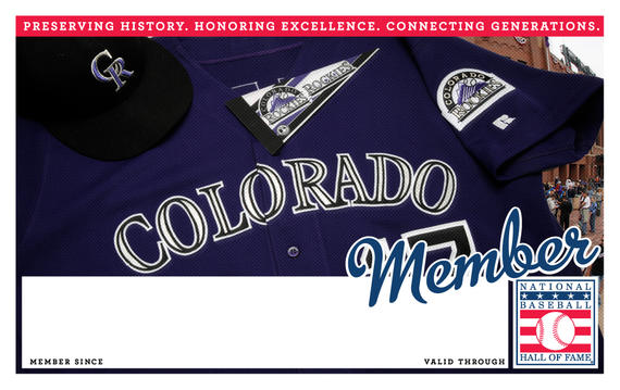 Colorado Rockies Hall of Fame Membership program card
