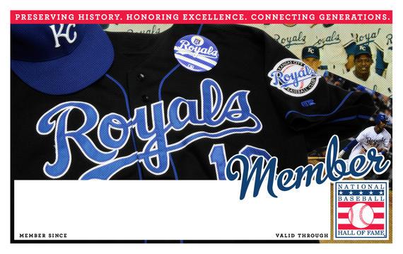 Kansas City Royals Hall of Fame Membership program card