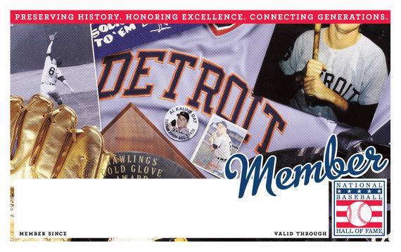 Detroit Tiger Hall of Fame Membership program card