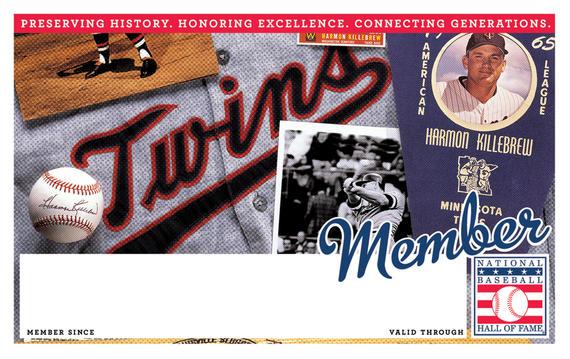 Minnesota Twins Hall of Fame Membership program card