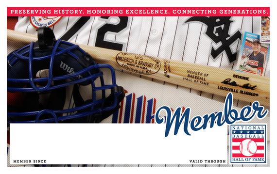 Chicago White Sox Hall of Fame Membership program card