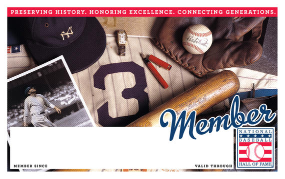 New York Yankees Hall of Fame Membership program card