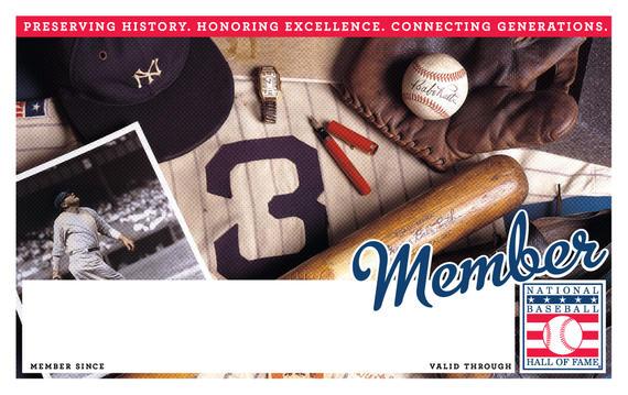 New York Yankees Hall of Fame Membership program card