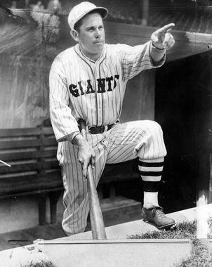 Before Ted Williams in 1941, Bill Terry was the last player in either the American or the National League to bat .400 or better when he hit .401 for the New York Giants in 1930. (National Baseball Hall of Fame and Museum)