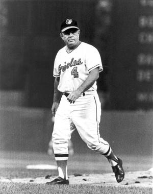 Orioles manager Earl Weaver established a left-field platoon with Gary Roenicke and John Lowenstein that helped Baltimore field one of the most versatile rosters in the American League. (National Baseball Hall of Fame and Museum)