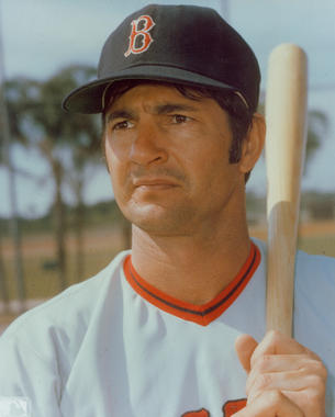 An 18-time All-Star in his 23 seasons with the Red Sox, Carl Yastrzemski was elected to the Hall of Fame in 1989. (National Baseball Hall of Fame and Museum)