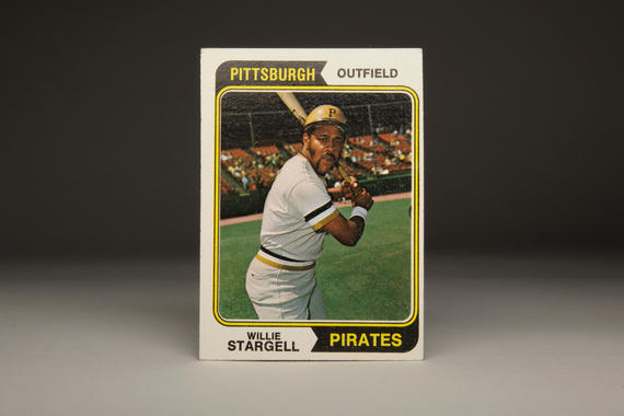 1974 Willie Stargell Topps card. (Milo Stewart Jr. / National Baseball Hall of Fame)